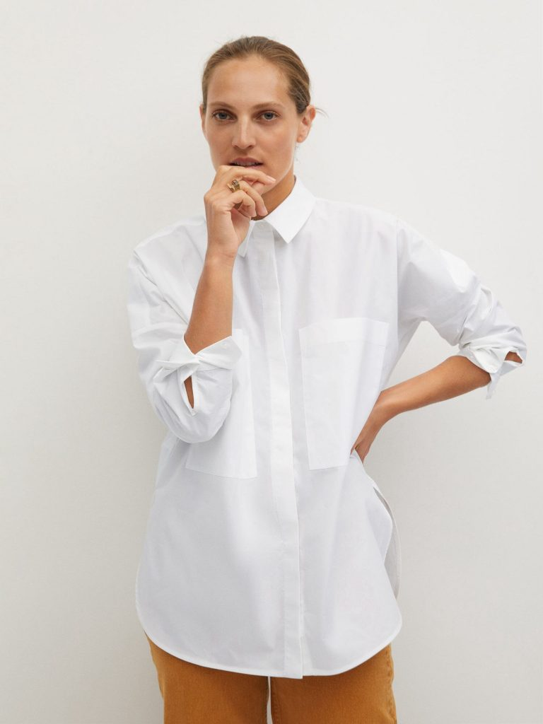 MANGO חולצת אוברסייז מנגו טרמינל איקס